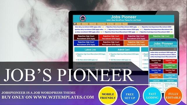 Jobs Pioneer WordPress Theme For Job Portal
