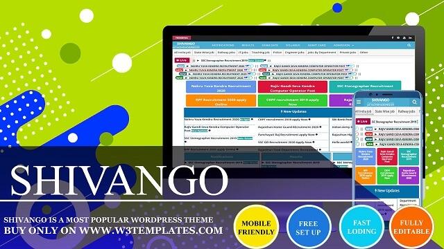 Shivango WordPress Theme For Job Portal