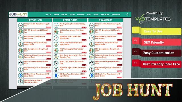 Job Hunt WordPress Theme For Job Portal