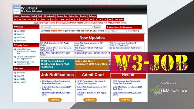 Free Job Alert WordPress Theme